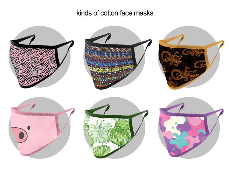 kinds of cotton face masks