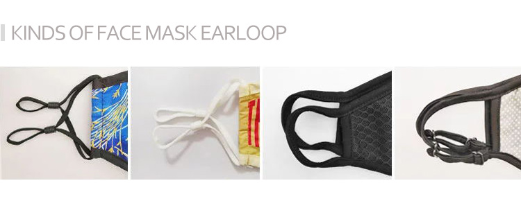 kinds of washable cloth face mask earloop