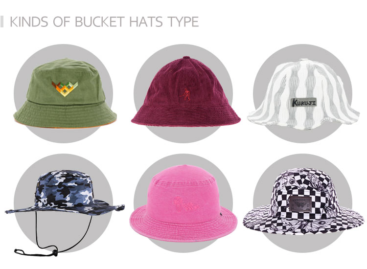 kinds of bucket hat