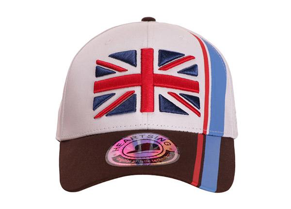 Front of Custom UK Flag Baseball Hat