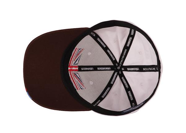 Inside of Custom UK Flag Baseball Hat
