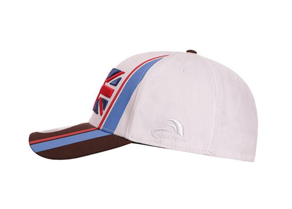 Side of Custom UK Flag Baseball Hat