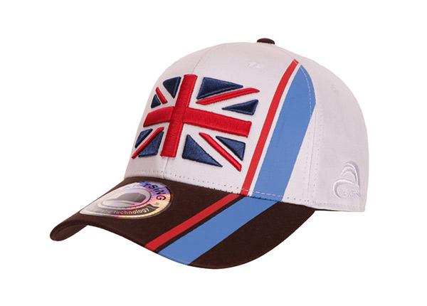 Slant of Custom UK Flag Baseball Hat
