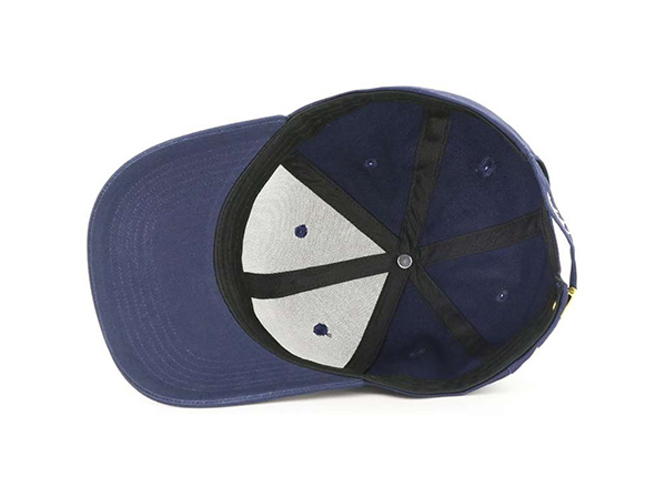 Inside of Adjustable Premium Baseball Cap With Embroidred White Logo