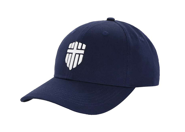 Side of Adjustable Premium Baseball Cap With Embroidred White Logo