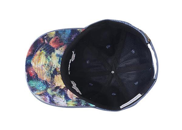 Inside of Custom Blue Adjustable One Size Fits All Baseball Cap