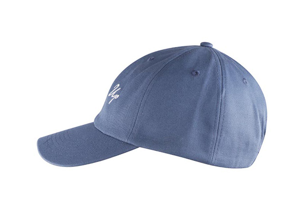 Side of Custom Blue Adjustable One Size Fits All Baseball Cap