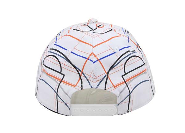 Back of Custom Striped Pinstripe Baseball Hat