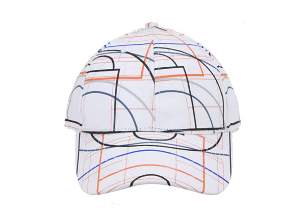Front of Custom Striped Pinstripe Baseball Hat