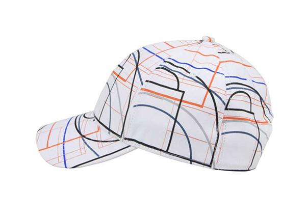 Side of Custom Striped Pinstripe Baseball Hat