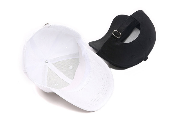 Back of Black Hipster Baseball Hats With Rings