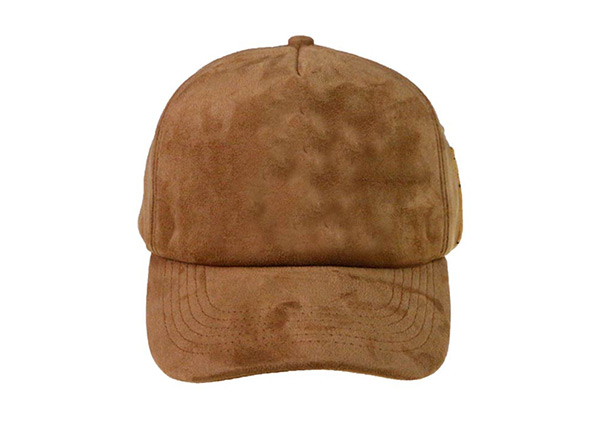 Custom Single Hats Blank Brown Suede Baseball Caps