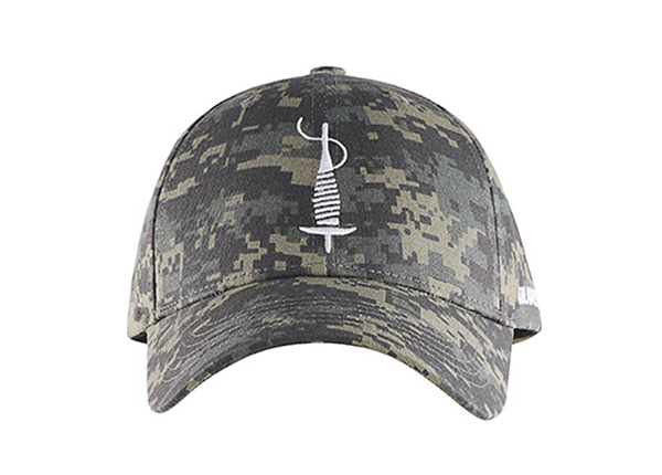 Front of Custom Military Baseball Cap With Embroidered Logo