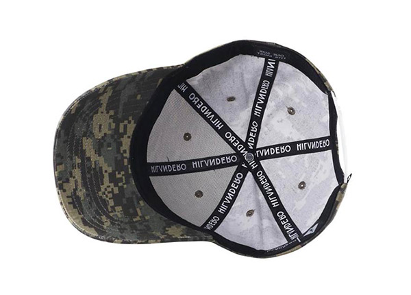 Inside of Custom Military Baseball Cap With Embroidered Logo