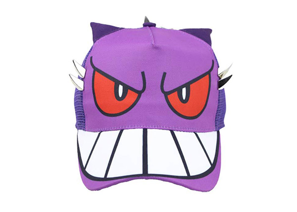 Front of Purple Kids Cool Fitted Baseball Cap