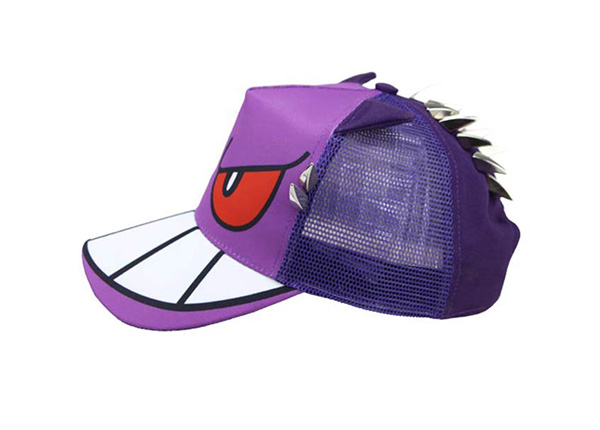 Side of Purple Kids Cool Fitted Baseball Cap