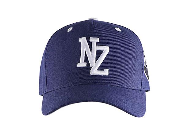 Front of Navy Blue Baseball Cap With Khaki Underbill