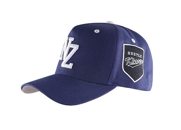 Slant of Navy Blue Baseball Cap With Khaki Underbill