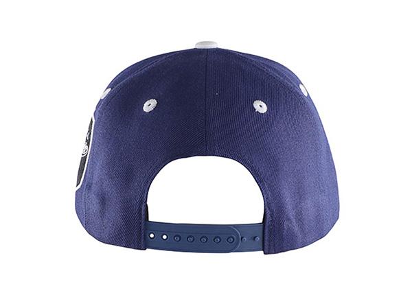 Back of Navy Blue Baseball Cap With Khaki Underbill
