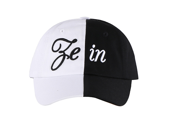 Black and White Baseball Cap Customized Two Tone Hats