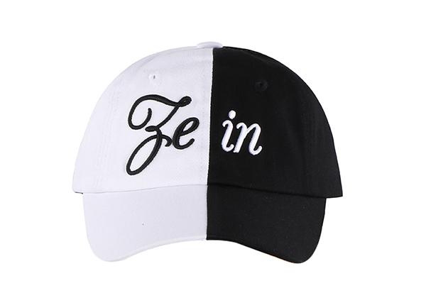 Black and White Baseball Cap Customized Two Tone Hats