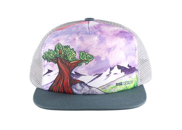 Front of Custom Youth Flat Bill Baseball Trucker Hat