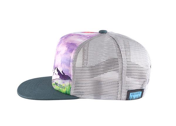 Side of Custom Youth Flat Bill Baseball Trucker Hat