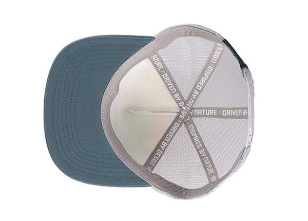 Inside of Custom Youth Flat Bill Baseball Trucker Hat