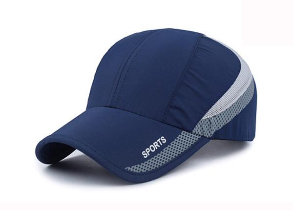 Long Bill Baseball Cap Custom Blue Long Visor Hats
