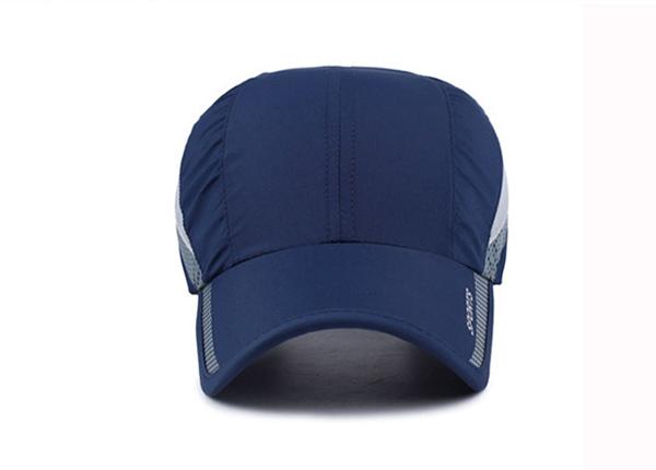 Front of Blue Long Bill Baseball Cap