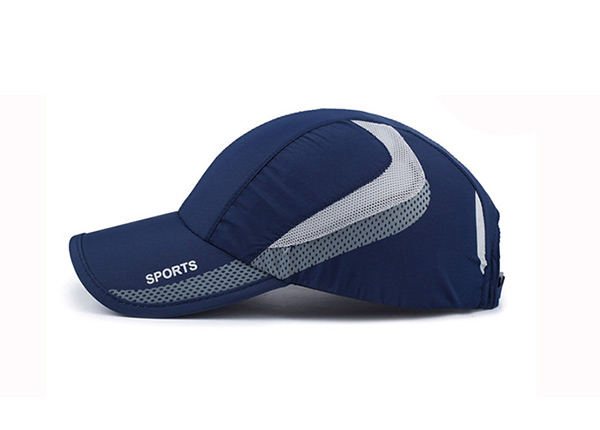 Side of Blue Long Bill Baseball Cap