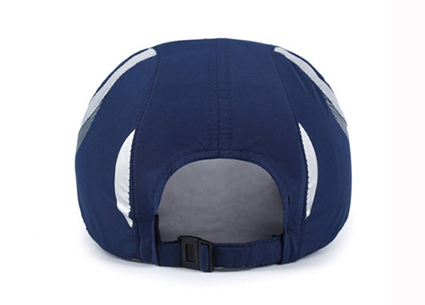 Back of Blue Long Bill Baseball Cap