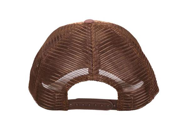 Back of Custom Brown Trucker Straw Baseball Hat