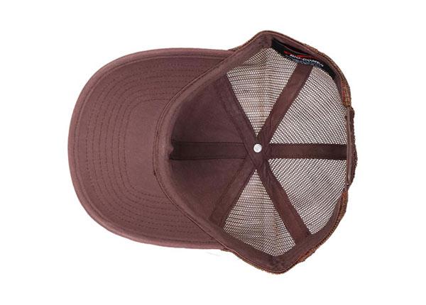 Inside of Custom Brown Trucker Straw Baseball Hat