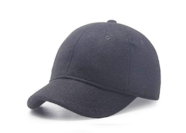 Short Brim Baseball Cap Custom Blank Black Hats