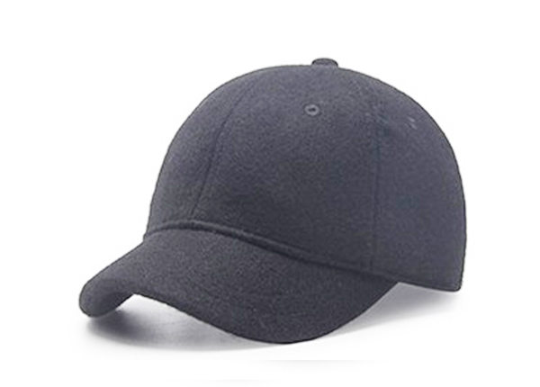 Slant of Blank Black Short Brim Baseball Cap