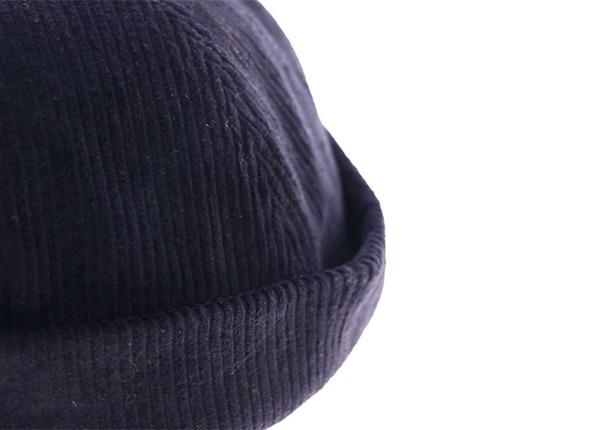 Side of Custom Corduroy No Bill Baseball Cap