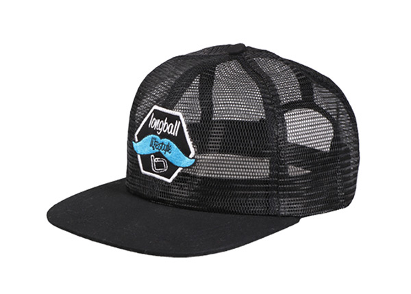 Slant of Custom Black All Mesh Baseball Cap