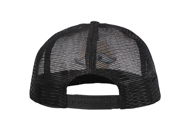 Back of Custom Black All Mesh Baseball Cap