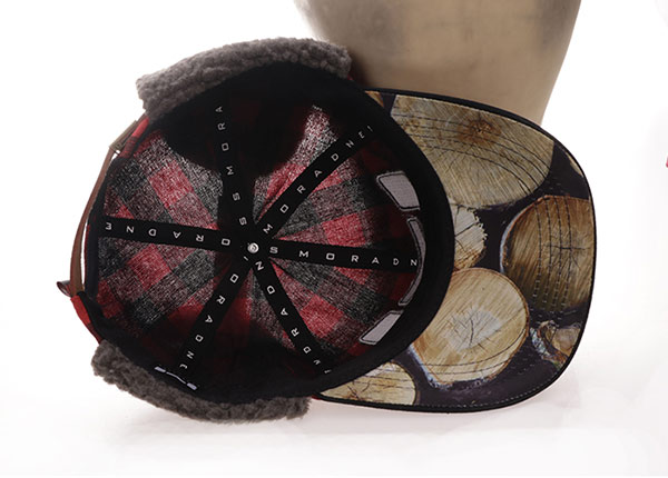 Inside of Custom Plaid Embroidered Hats With Earflap For Men