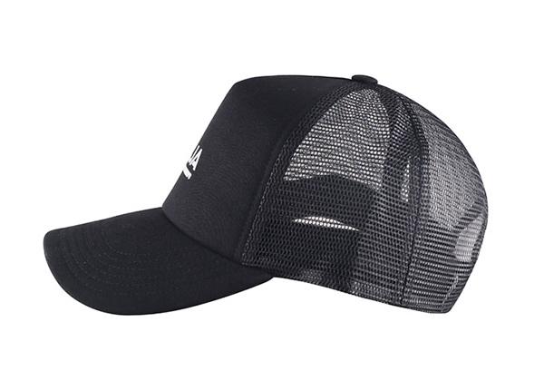 Side of Black Mesh Baseball Cap