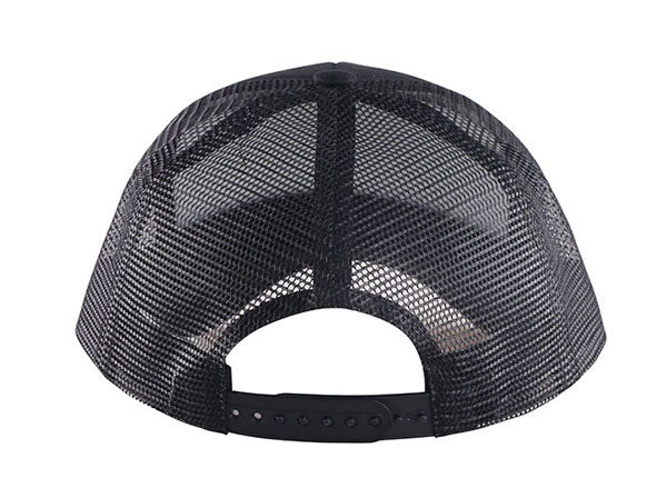 Back of Black Mesh Baseball Cap