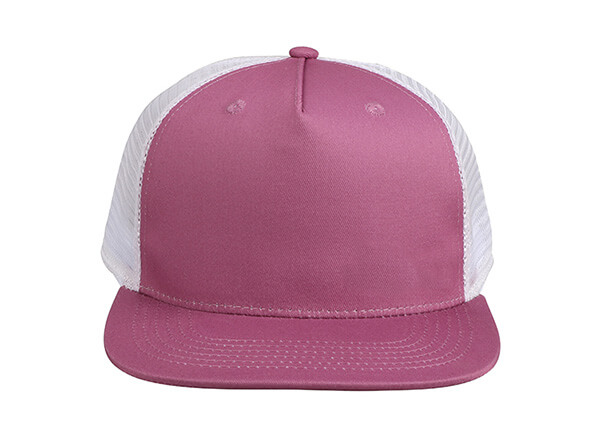 Front of Wine Red Blank 2 Tone Mesh Fitted Hat