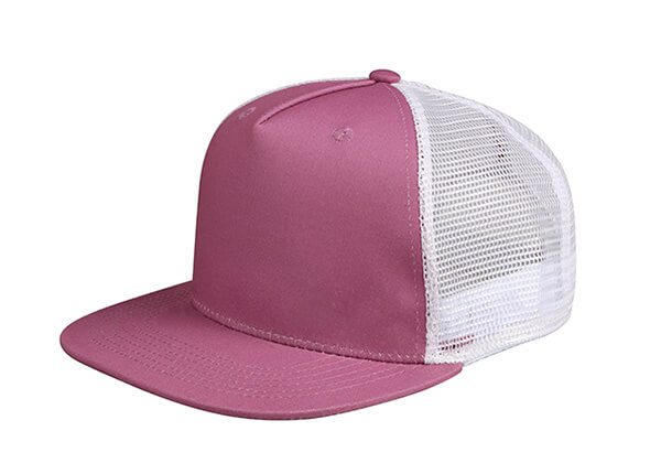 Slant of Wine Red Blank 2 Tone Mesh Fitted Hat