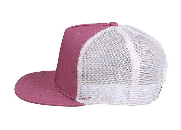 Side of Wine Red Blank 2 Tone Mesh Fitted Hat