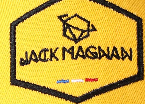 Logo of 2D Embroidered Yellow Baseball Cap with Black Mesh Back