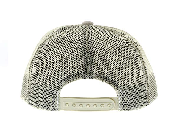 Back of Mesh Military Cap With Leather Brim