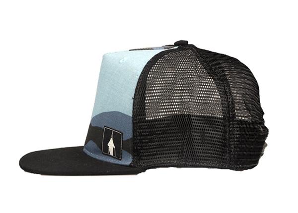 Side of Vintage Foam Blank Flat Bill Trucker Hat