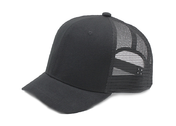 Short Bill Trucker Hats Black Blank Short Brim Baseball Mesh Cap