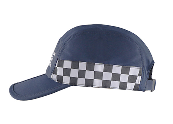 Side of Low Profile Curved Brim 5 Panel Hat